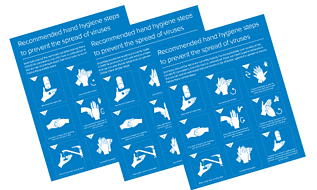 Handwashing posters for covid-19