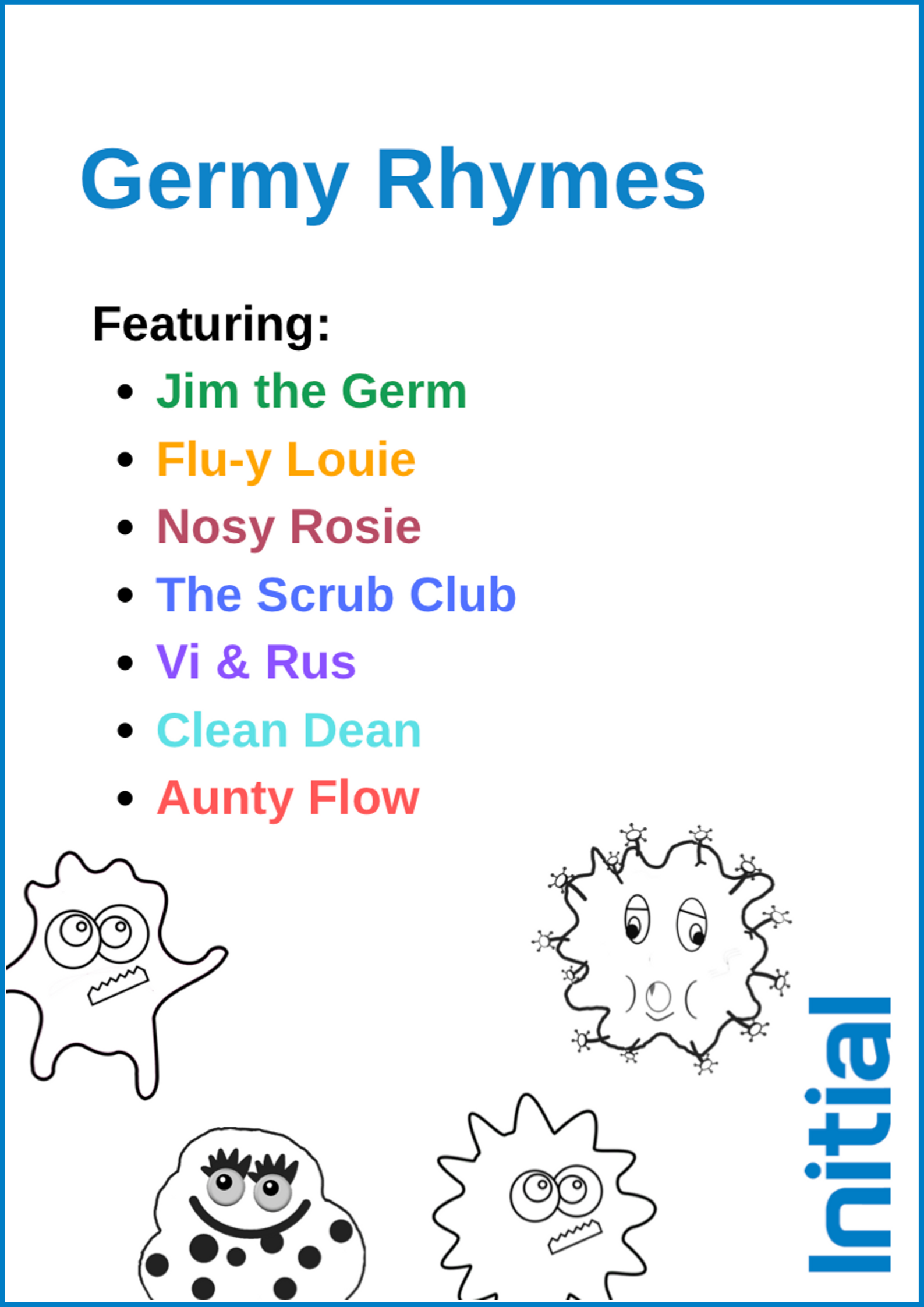 ZA _ Initial _ Asset Image _ Initial Hygiene Germy Rhymes Activity Book cover
